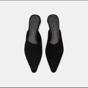 NWT Zara leather mule
